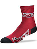 Southern Illinois University Salukis Thick Quarter Socks
