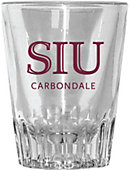 Southern Illinois University 2 oz. Fluted Collector's Glass