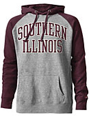 Southern Illinois University Tri-Blend Color Block Hooded Sweatshirt