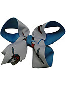Delaware State University Child 2-Toned Hairbow