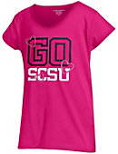 St. Cloud State University Girls' V-Neck Powder Puff T-Shirt