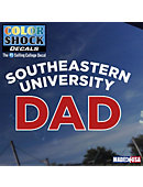 Southeastern University Dad Decal