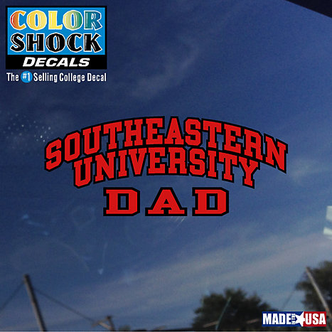 Product: Southeastern University Dad Decal