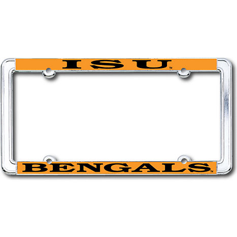 Product: Idaho State University Bengals Thin Dome License Plate Frame