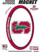 Stanford University 3.5''x5.5'' Oval Magnet