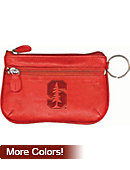 Stanford University Cardinal Double Zip Coin Purse