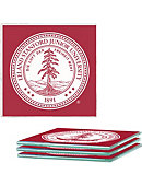 Stanford University Glass Coasters Set of 4