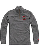 Stanford University Cardinal Tri-Blend 1/4 Zip Fleece Pullover