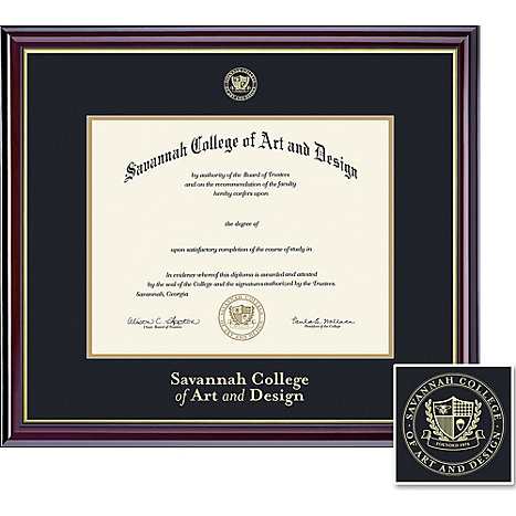 Product: Savannah College of Art and Design 8.5'' x 11'' Windsor Diploma Frame