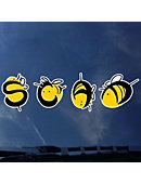 Savannah College of Art and Design Bees Decal