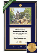 University of Notre Dame Prestige Lithograph Diploma Frame