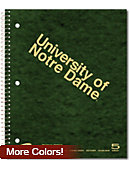 University of Notre Dame 200 Sheet Five Subject Notebook