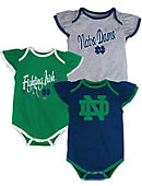 Adidas University of Notre Dame Newborn Girls' 3-Piece Bodysuit