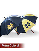 University of Notre Dame 62'' Woodshaft Umbrella