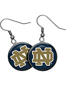 University of Notre Dame Domed Earrings