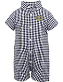 F1547A Infant Boys' Gingham Romper