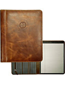 University of Notre Dame Monogram Club Leather Pad Holder