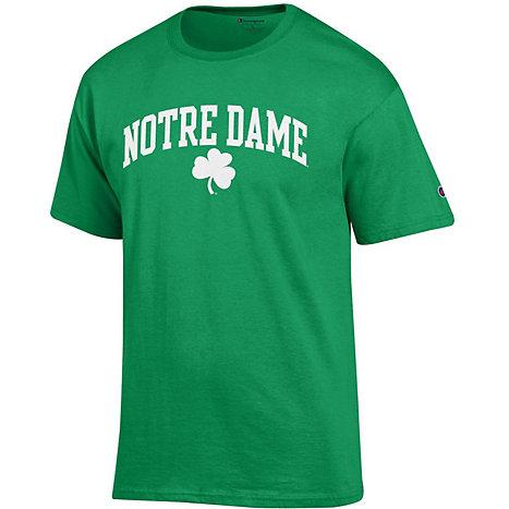 University of notre dame shamrock short sleeve t shirt for Notre dame tee shirts
