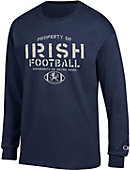 University of Notre Dame Property of Fighting Irish Football Long Sleeve T-Shirt