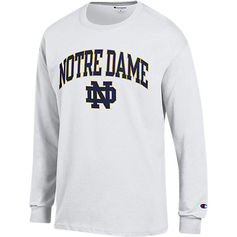 F1712d notre dame long sleeve t shirt university of for Notre dame tee shirts