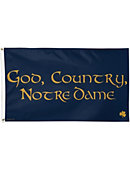 God, Country, Notre Dame Flag