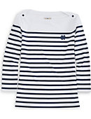 University of Notre Dame Women's 3/4 Sleeve Striped Boatneck Shirt