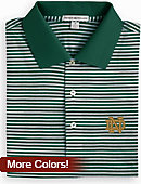 University of Notre Dame Striped Polo