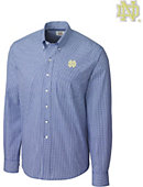 Cutter & Buck University of Notre Dame Long Sleeve Epic Easy Care Gingham - ONLINE ONLY