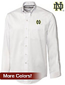 Cutter & Buck University of Notre Dame Long Sleeve Epic Easy Care Fine Twill - ONLINE ONLY