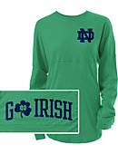 University of Notre Dame Fighting Irish Women's Long Sleeve Go Irish Ra Ra T-Shirt