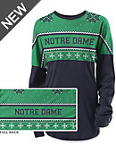 University of Notre Dame Women's Long Sleeve Ugly Sweater Ra Ra Shirt