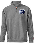University of Notre Dame 1/4 Zip Tri-Blend Pull Over