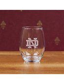 University of Notre Dame 15 oz. Stemless Wine Glass