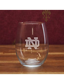 University of Notre Dame 21 oz. Stemless Wine Glass