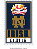 University of Notre Dame Bowl Bound Lapel Pin