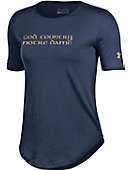 F1534B Women's Under Armour® God, Country, Notre Dame Short Sleeve Tee