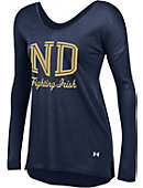 Under Armour University of Notre Dame Women's Drapey Long Sleeve T-Shirt