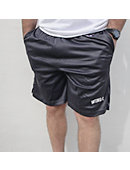 Charcoal Grey Mesh Shorts With Wingate In White