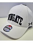 White Fitted Hat Wingate On Front