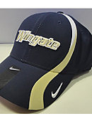 Navy Swoosh Hat With Wingate In Vegas