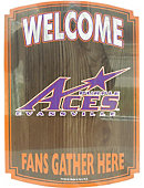 Aces fan Wood Sign