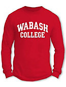 Wabash College Toddler Basic Long Sleeve Red Tee
