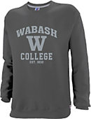 Wabash College Youth Charcoal Crew -faded tonal design.