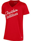 Youth Girl's Red V Neck Tee