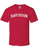 Red Tee With Davidson Logo