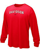 Red Dri Fit Legend Long Sleeve Tee