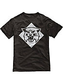 Black Victory Falls Solid Tee With Cat