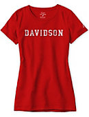 Women's Red Freshy Tee With Davidson