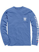 Pacific Blue Long Sleeve Vintage Wash Pocket Tee
