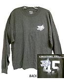 Limestone Saints Long-sleeve Charcoal Tee